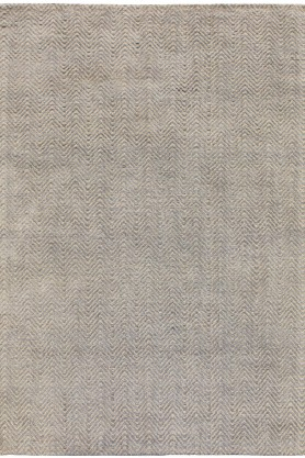 Image of Ives Cotton And Jute Rug - Silver - 100cm x 150cm on white background