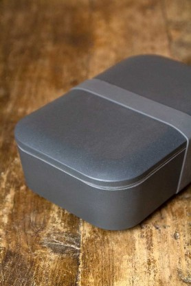 Image of the Dark Grey Lunchbox With Handy Silicone Band