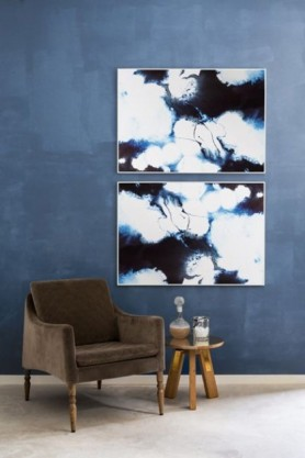 Unframed Angelica Art Print blue white lifestyle image