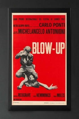 Unframed Italian Red Blow-Up Cinema Art Print