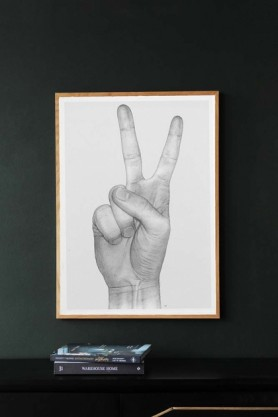 Unframed Peace Hand Art Print by B Bredenbekk