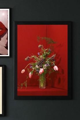 Unframed Red Blomst 03 Art Print By Uffe Buchard