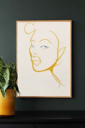 Image of the Silhouette 03 Art Print by Amelie Hegardt framed and hung on the wall