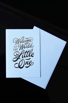 Welcome to the World Little One Greeting Card - Blue