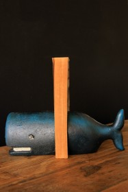 Cast Iron Pair of Whale Bookends