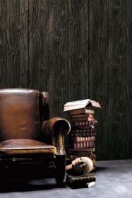 Koziel Charred Wood Boarding Wallpaper