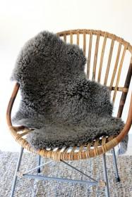 Genuine Sheepskin Rug - Curly Slate