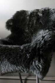 Genuine Sheepskin Rug - Silky Black