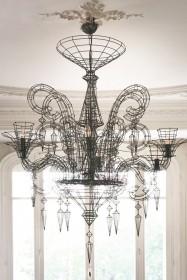 Angelus Shadow Black Wire Chandelier