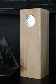 Leff Amsterdam Tube Wood Clock By Piet Hein Eek - Steel/Natural Hevea