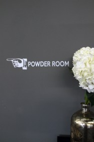 Powder Room Wall Sticker