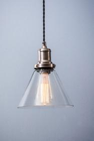 Hoxton Cone Glass Pendant Ceiling Light