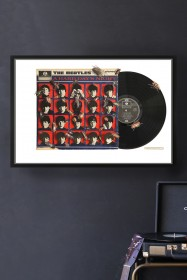 Unframed The Beatles A Hard Day's Night Record Cover Collage by Alison Stockmarr
