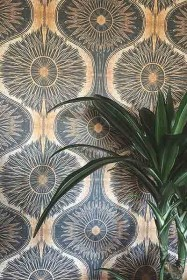 Anna Hayman Designs Gold & Black Bibana Wallpaper
