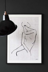 Framed Abstract Woman Art Print
