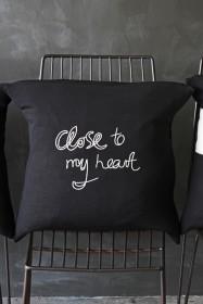 Bella Freud Merino Wool Cushion - Close to my Heart