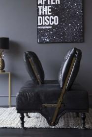 Black Leather Loveseat Sofa