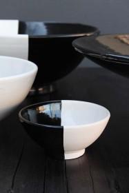 Handmade Moroccan Black & White Bowl - 10cm