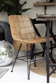 Blonde Rattan Dining Chair