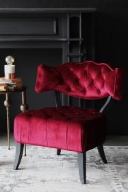 Cloud Velvet Chair - Pinot Noir Red