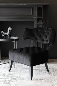 Cloud Velvet Chair - Back to Black