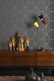 Cole & Son Geometric II - Riviera Wallpaper - 4 Colours Available