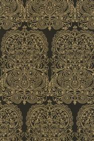 Cole & Son New Contemporary - Alpana Wallpaper - Black & Gold