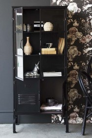 Display Cabinet With Industrial Doors