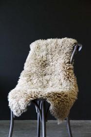 Genuine Sheepskin Rug - Curly Beige