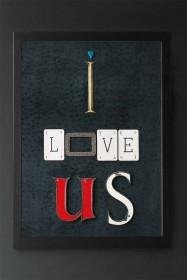 Unframed I Love Us Art Print