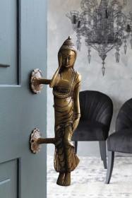 Lying Buddha Brass Door Handle