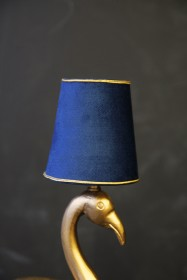 Mini Blue & Gold Velvet Lamp Shade