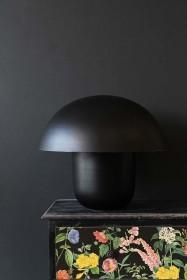 Mushroom Table Lamp - Black