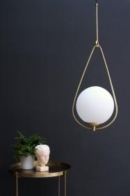 Globe Pearl Drop Ceiling Light