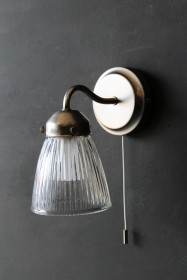 Pimlico Bathroom Wall Light in Satin Nickel
