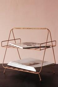 Iron and Bamboo Magazine Rack