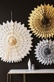 Set Of 3 Giant Metallic Pinwheel Decorations