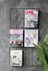 Six-Tier Magazine Wall Rack
