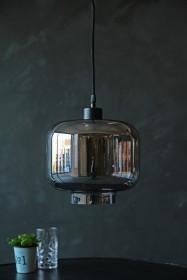 Smoked Glass Pendant Ceiling Light - Urn