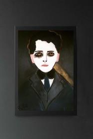 Unframed Auden Art Print by Rebecca Sophie Leigh
