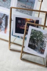 Brass & Glass Framed Desk Top Picture Frames