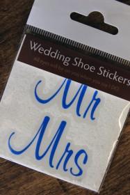 Wedding Stickers - 'Mr & Mrs' Shoe Stickers