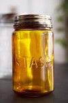 Amber Recycled Glass Storage Jar - Stash
