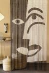 Bamboo Door Curtain - Black & White Design