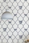 Barneby Gates Wallpaper - Fox & Hen - Charcoal & Parchment