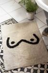 Black & White Booby Cotton Bath Mat