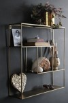 Brass Quadratic Shelf Unit