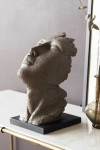 Distressed Stone Effect Resting Head Ornament - Large