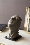Distressed Stone Effect Resting Head Ornament - Small