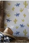 Hibou Home Cactus Cowboy Children's Wallpaper